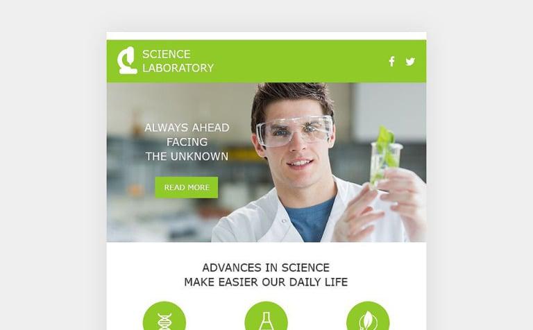 science lab responsive newsletter template new screenshots big