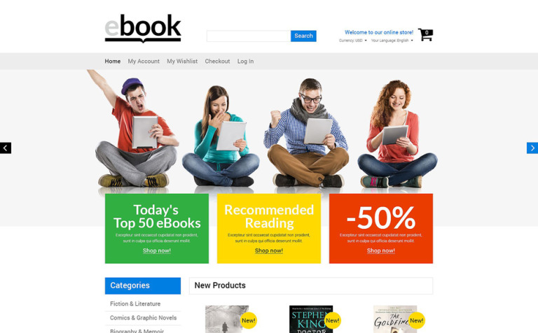Selling e books magento theme 53173 selling e books magento theme new screenshots big fandeluxe Image collections