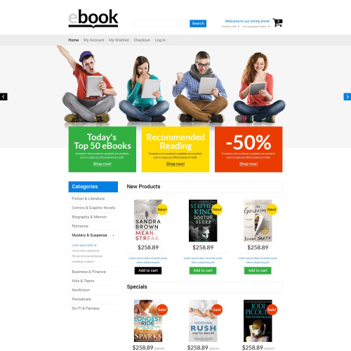 ebook - Magento Template based on Bootstrap