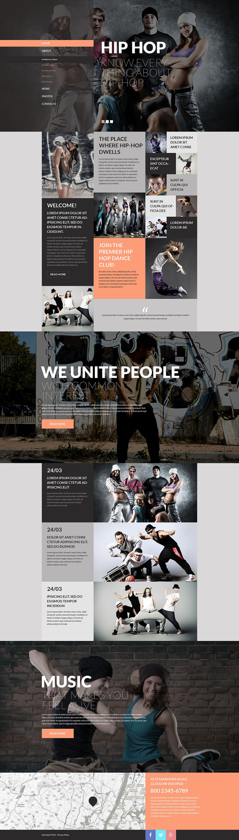 Street Dance Website Template New Screenshots BIG