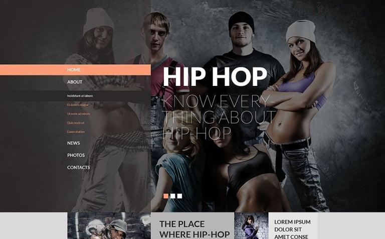 Street Dance Website Template