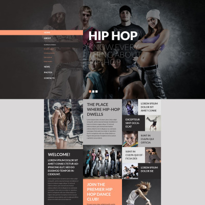 Dance academy website template yadclub Images