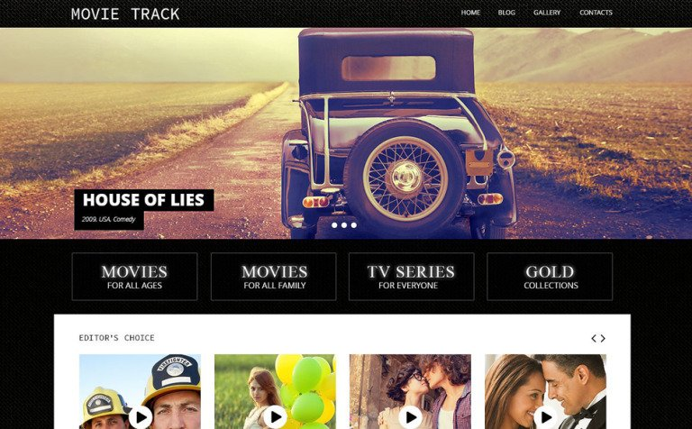 Tema de WordPress #53142 para Sitio de Cine