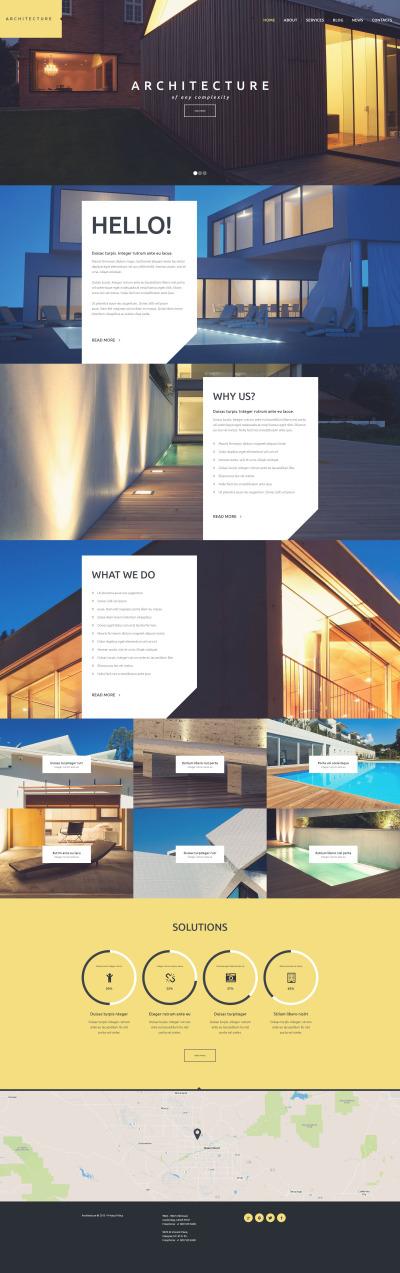 Flexível tema WordPress №53109 para Sites de Arquitetura