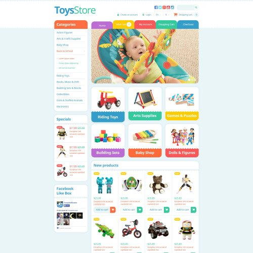 Toys Store - OpenCart Template based on Bootstrap