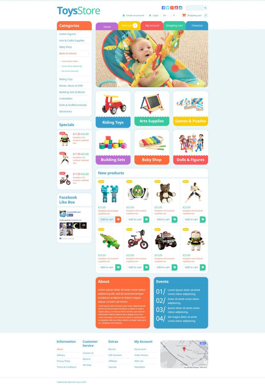 Шаблон интернет магазина игрушек