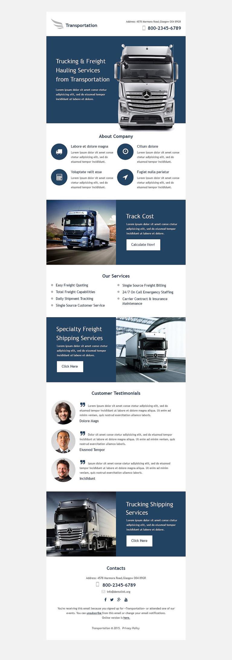 Transportation Responsive Newsletter Template New Screenshots BIG