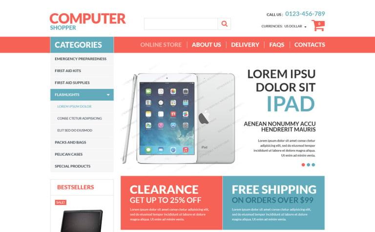 Virtuemart Computer Free Template New Screenshots