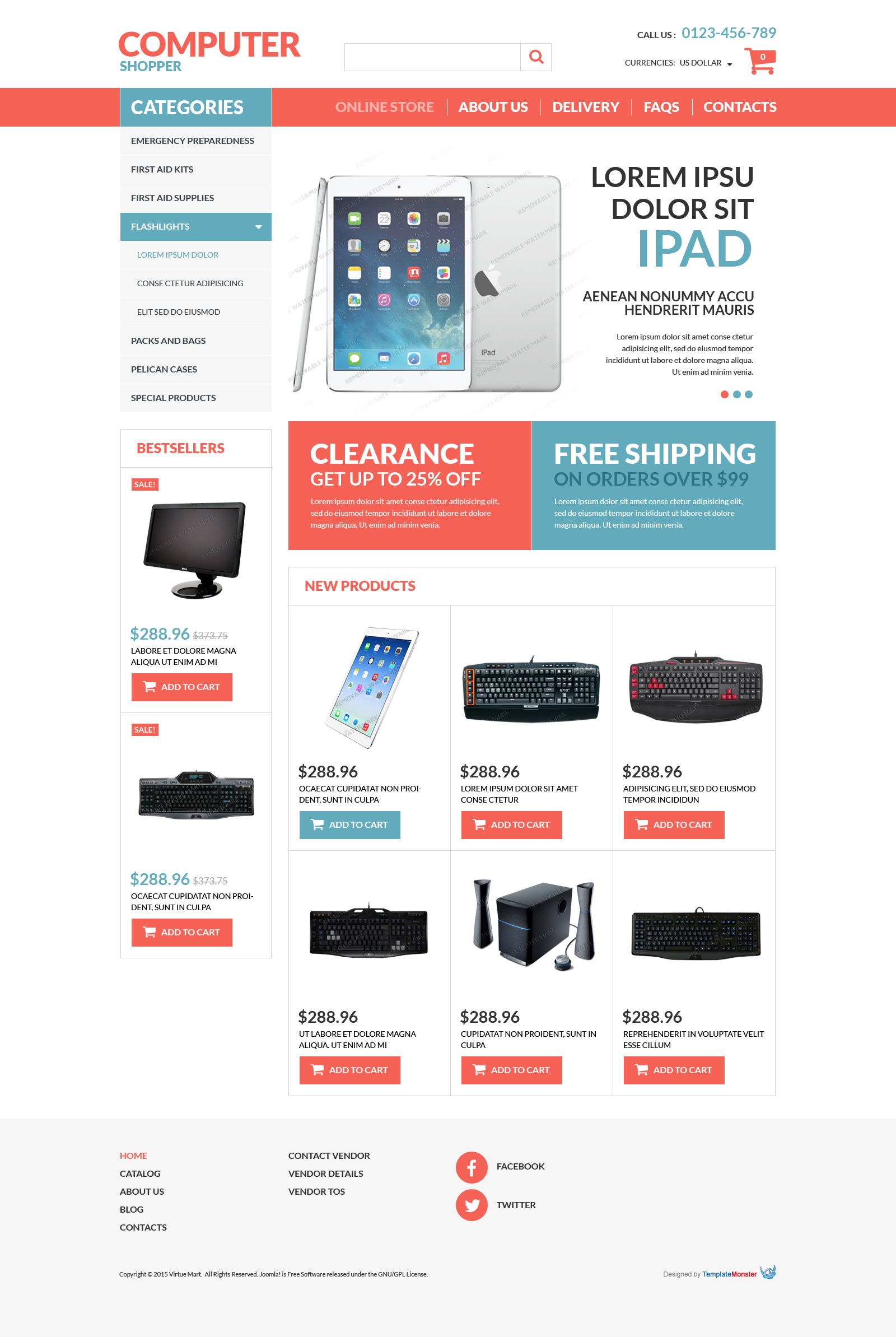 Computer Store Free Virtuemart Template