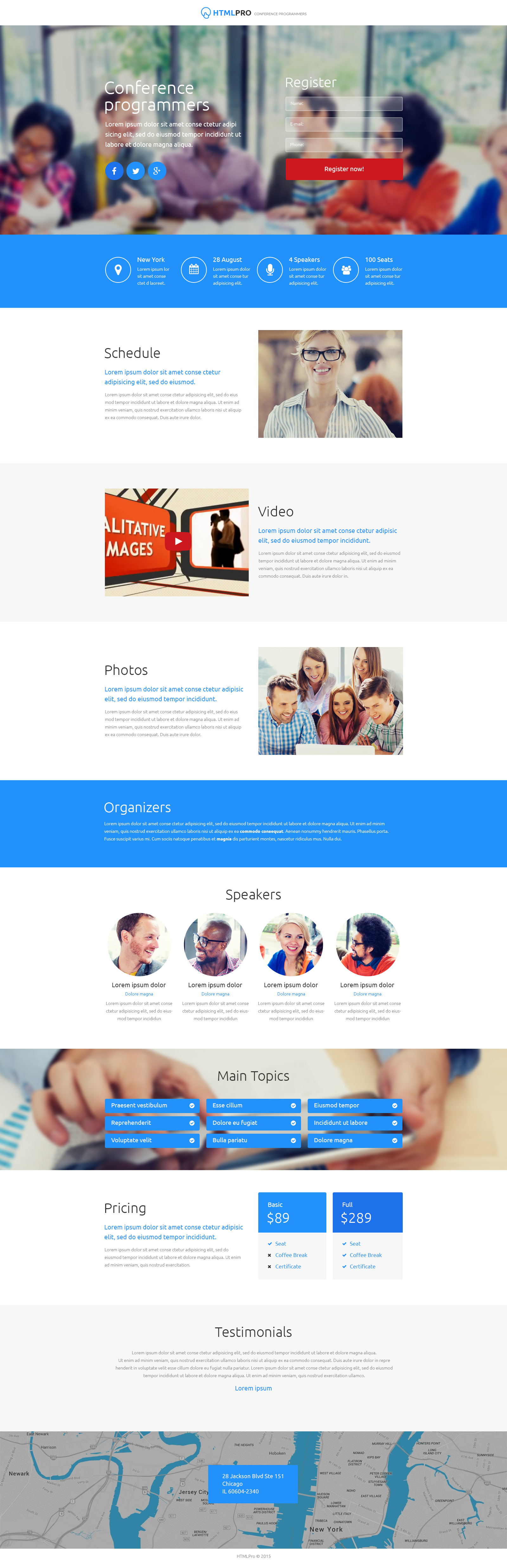 Web Development Unbounce Template