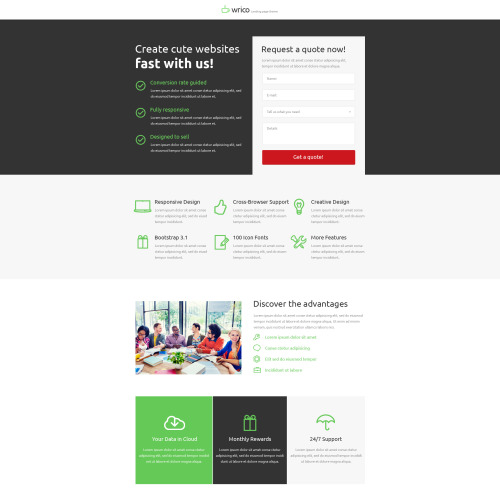 Wrico - Unbounce Template
