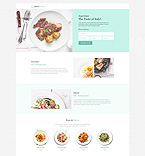 Cafe & Restaurant Landing Page  Template 53202