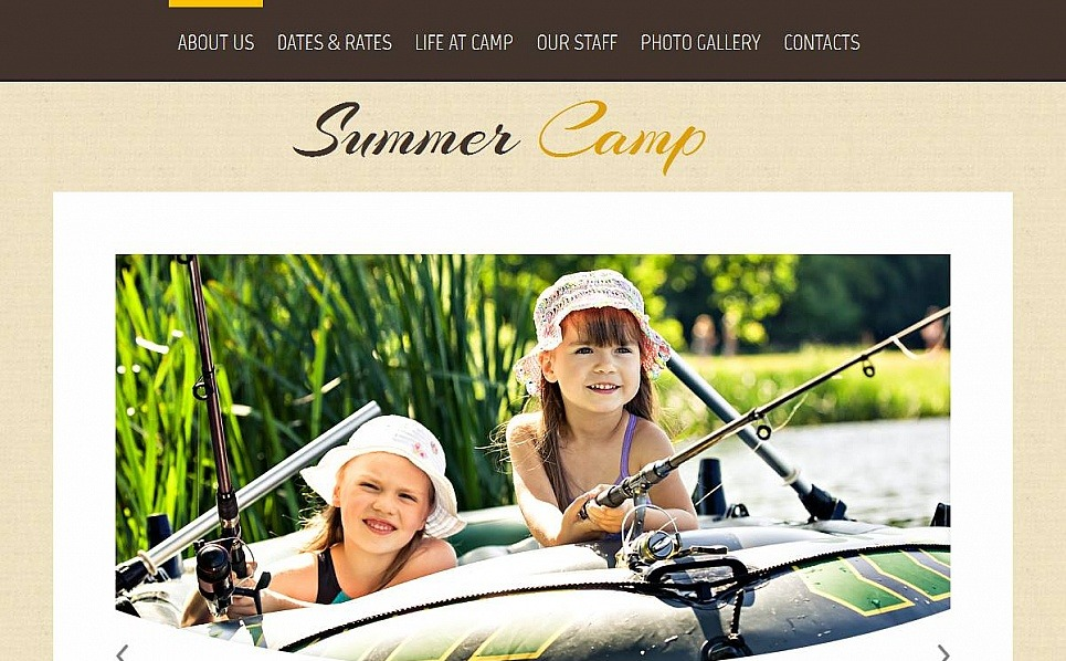 Template Moto CMS HTML para Sites de Acampamento de Verão №53213 New Screenshots BIG