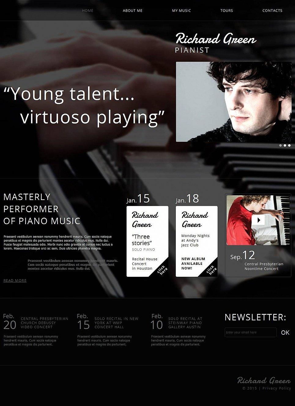 Musician Website Builder Template - image