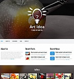 Art & Photography Moto CMS HTML  Template 53217