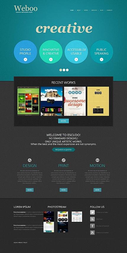 ADOBE Photoshop Template 53219 Home Page Screenshot