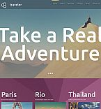 Travel Moto CMS 3  Template 53220