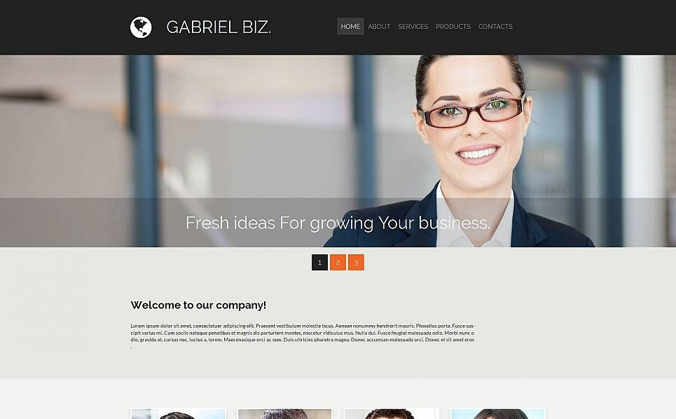 Template Moto CMS 3 Responsive #53221 per Un Sito di Business e Servizi New Screenshots BIG
