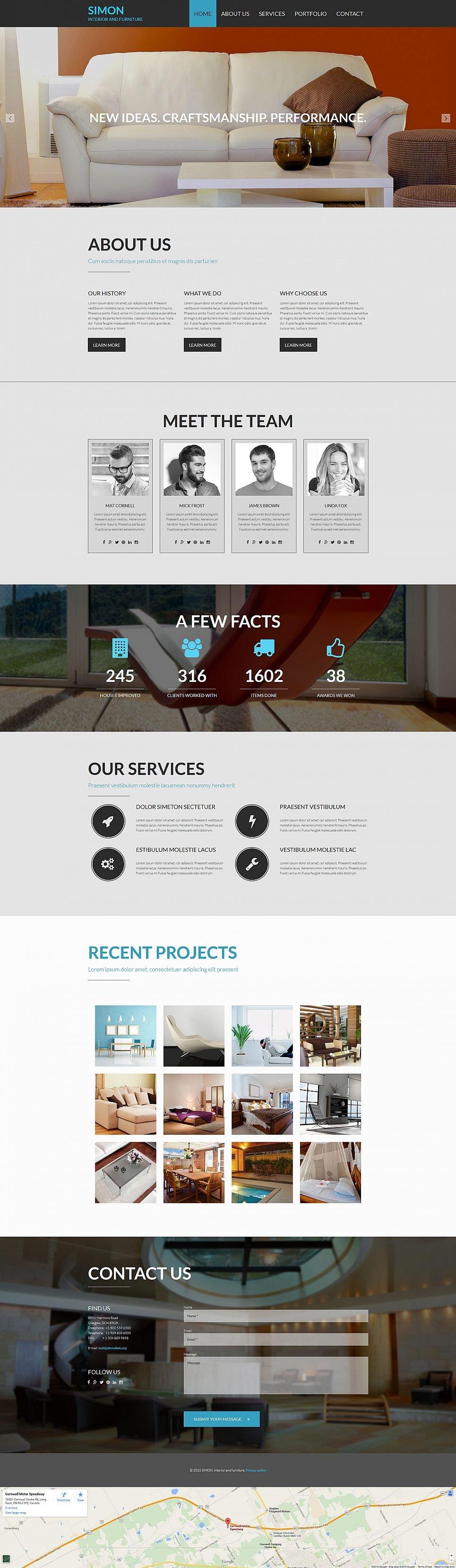 Home Interior Website Design - image