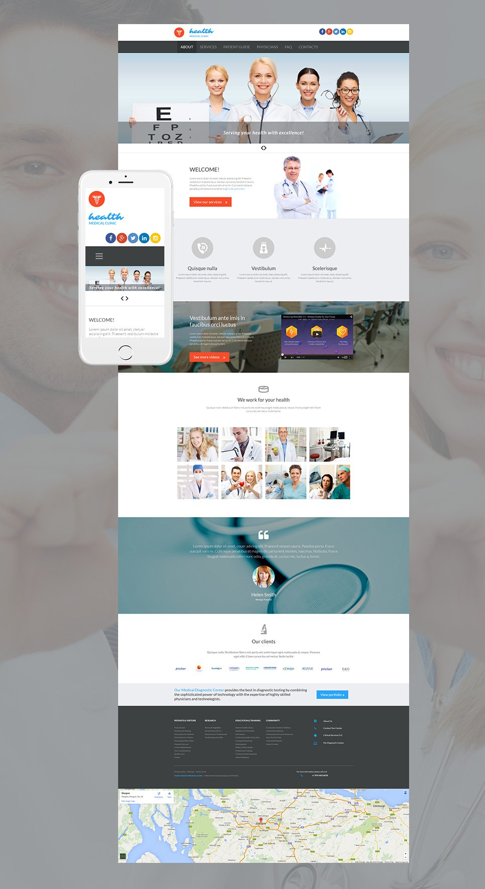 Hospital Website Template - image