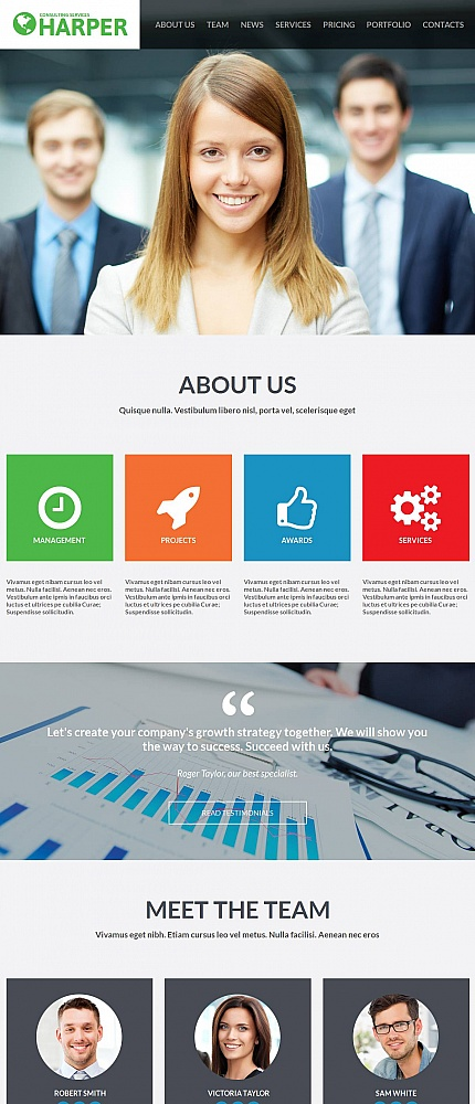 ADOBE Photoshop Template 53229 Home Page Screenshot