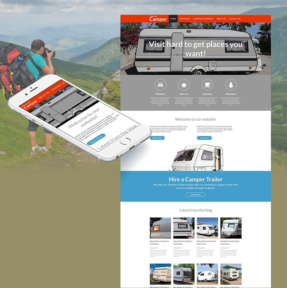 Website Template for Your Travel Trailer Sales Company - image