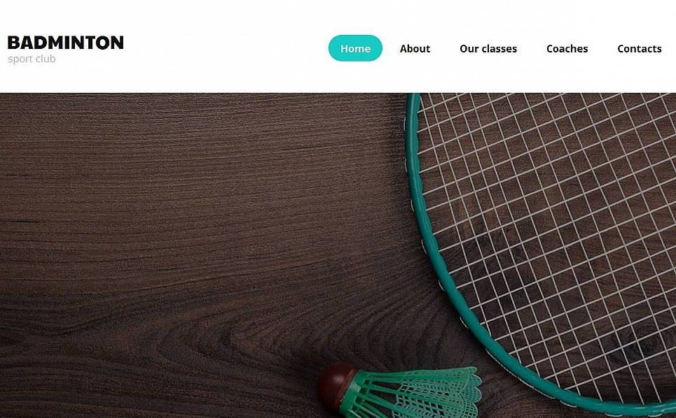 Plantilla Moto CMS HTML #53232 para Sitio de Bádminton New Screenshots BIG