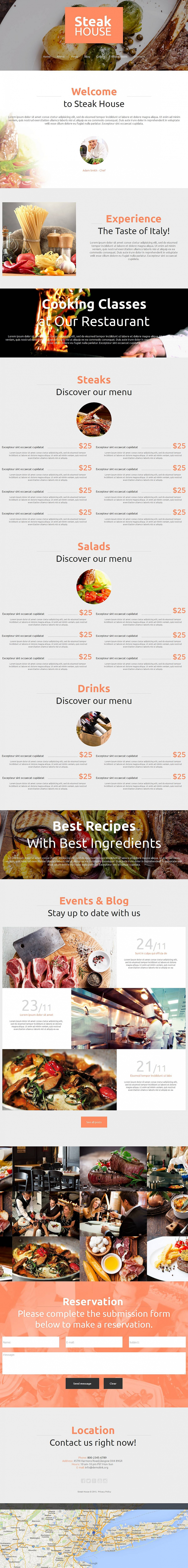 Website Building Theme for Your Steak House - image