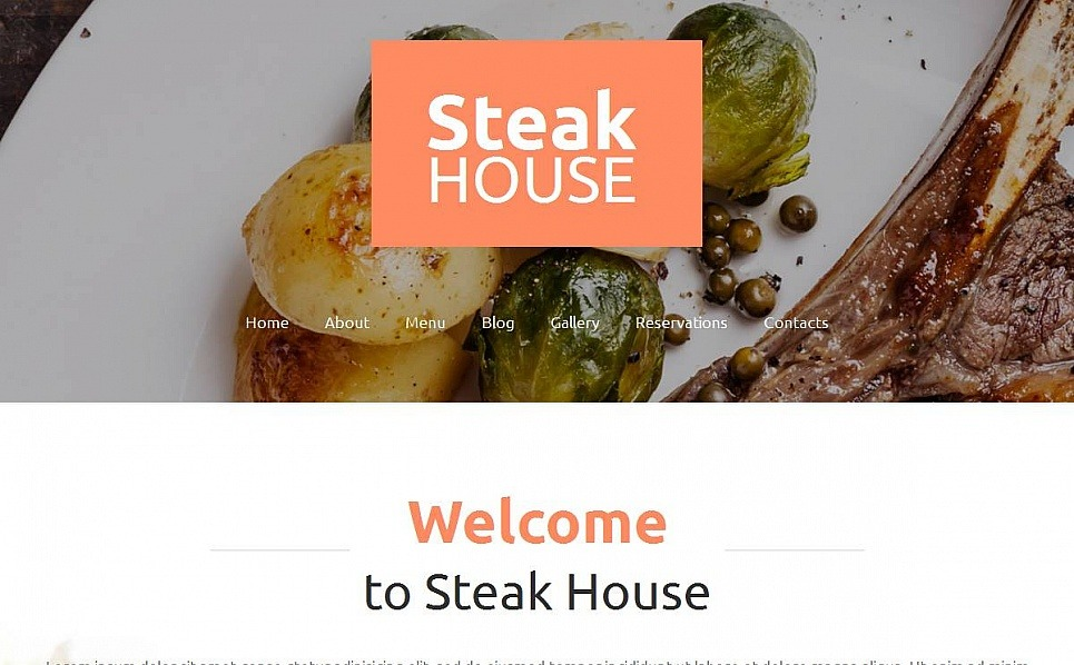 Szablon Moto CMS HTML #53234 na temat: restauracja amerykańska New Screenshots BIG
