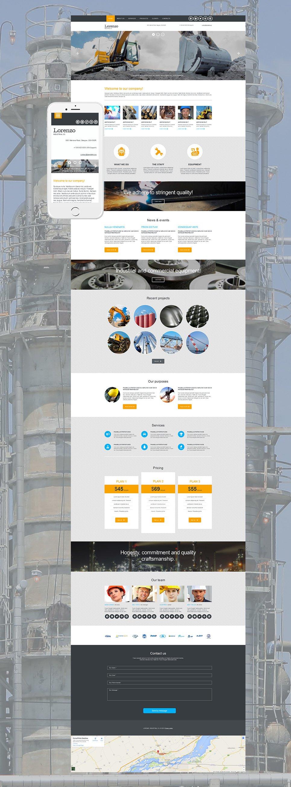 Industrial Website Design - image