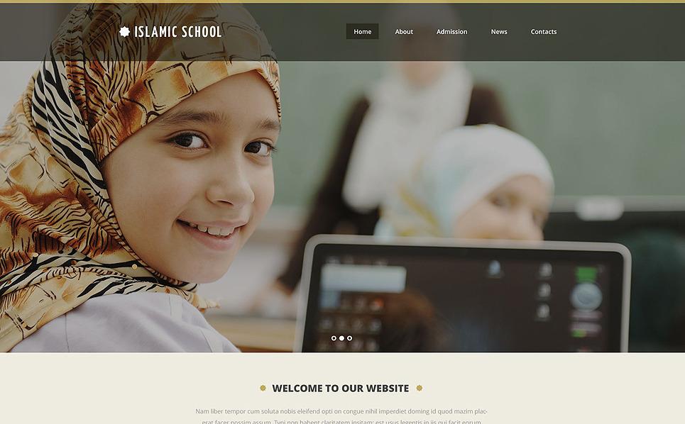 Responsive Website template over Godsdiensteschool  New Screenshots BIG