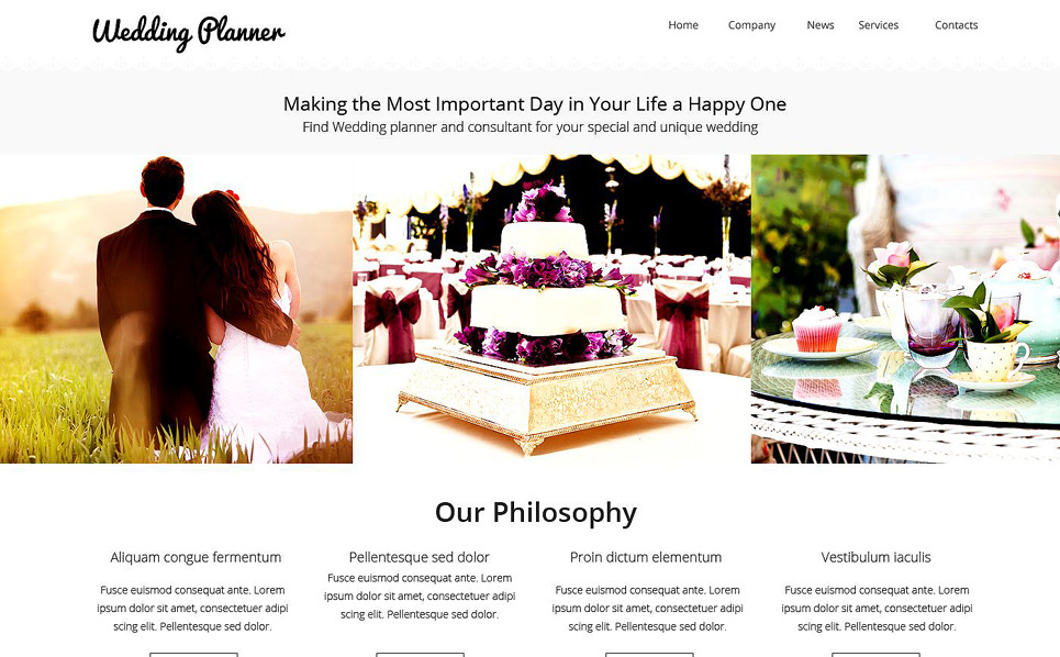 Responsive Website template over Huwelijksplanner  New Screenshots BIG