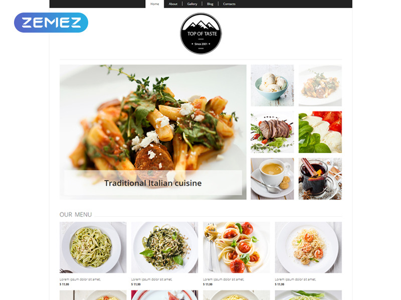 Responsive Joomla Template over Café en Restaurant New Screenshots BIG