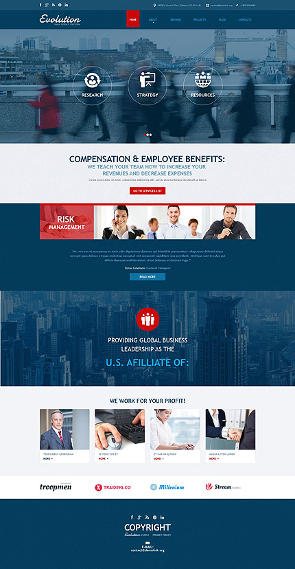 Joomla Theme/Template 53254 Main Page Screenshot
