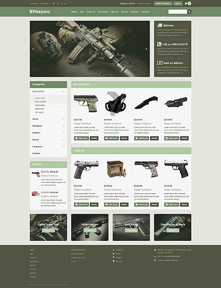 osCommerce Template 53268 Main Page Screenshot