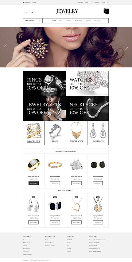 osCommerce Template 53269 Main Page Screenshot