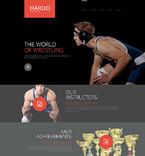 Sport Website  Template 53271