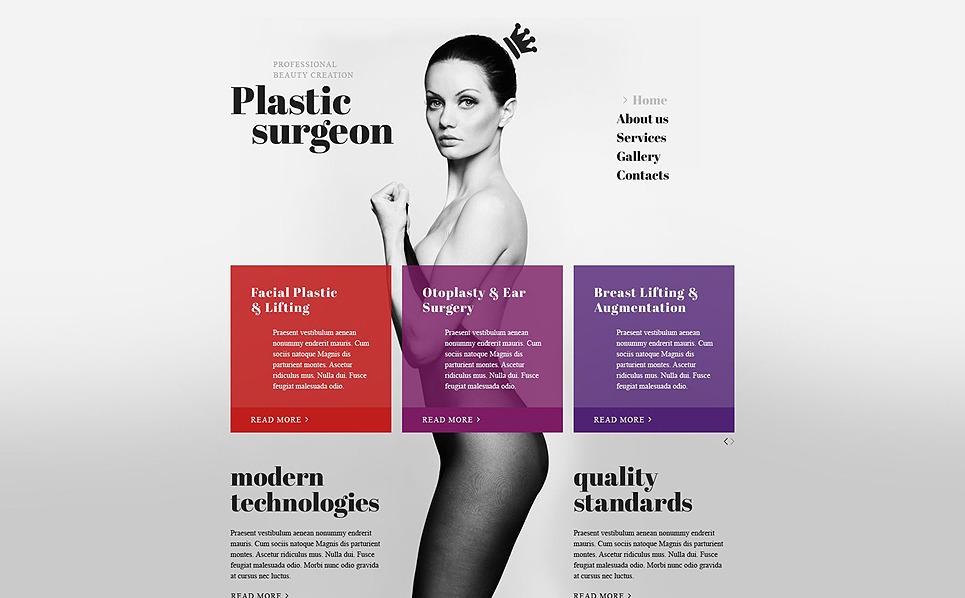 Responsive Website template over Plastische Chirurgie  New Screenshots BIG