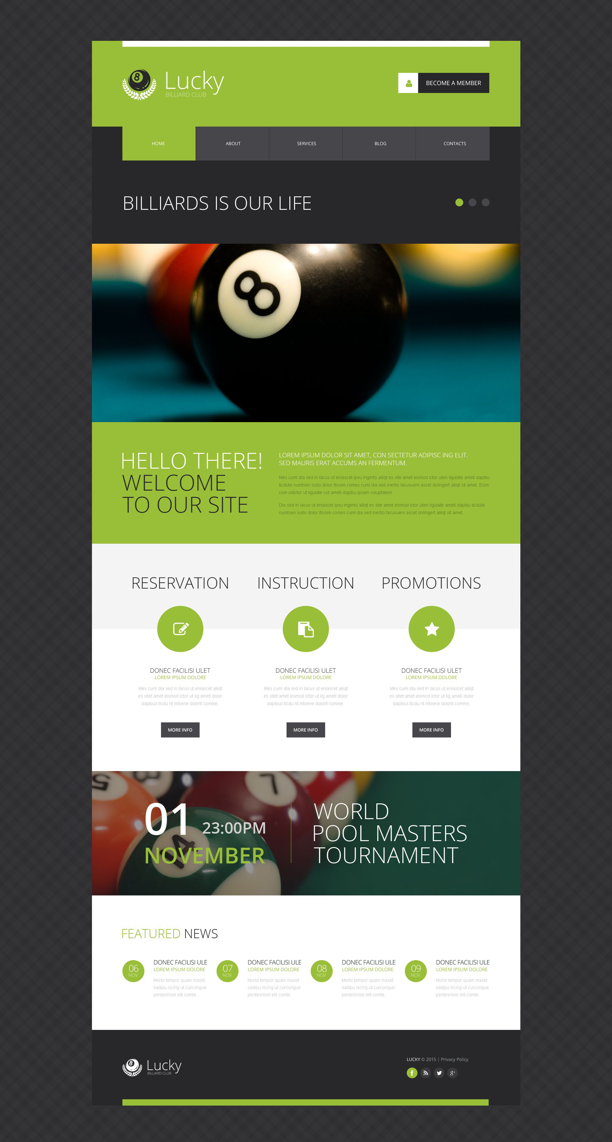 The Lucky Billiard Club Responsive Javascript Animated Design 53274, one of the best website templates of its kind (sport), also known as lucky billiard club website template, sport website template, entertainment website template, site website template, cup-final website template, champions website template, membership website template, leadership website template, team website template, ball website template, cue website template, pocket website template, positions website template, cloth website template, lamps website template, table website template, pool website template, tables website template, accessories website template, furniture website template, books website template, videos website template, coaching website template, teacher website template, principles and related with lucky billiard club, sport, entertainment, site, cup-final, champions, membership, leadership, team, ball, cue, pocket, positions, cloth, lamps, table, pool, tables, accessories, furniture, books, videos, coaching, teacher, principles, etc.