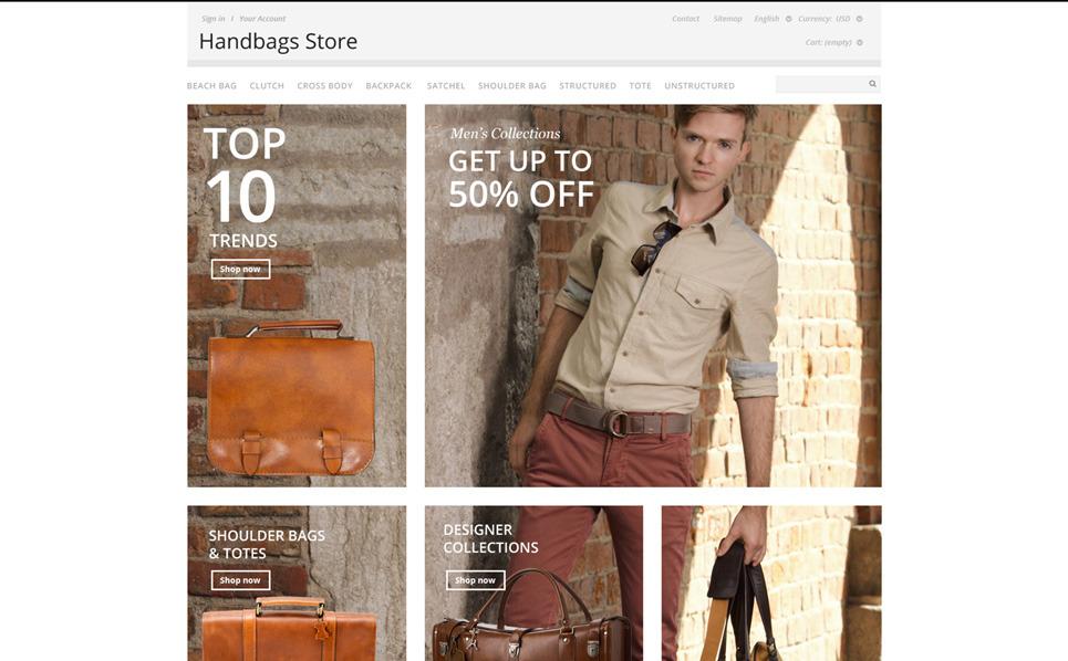 Responsive PrestaShop Thema over Handtas  New Screenshots BIG