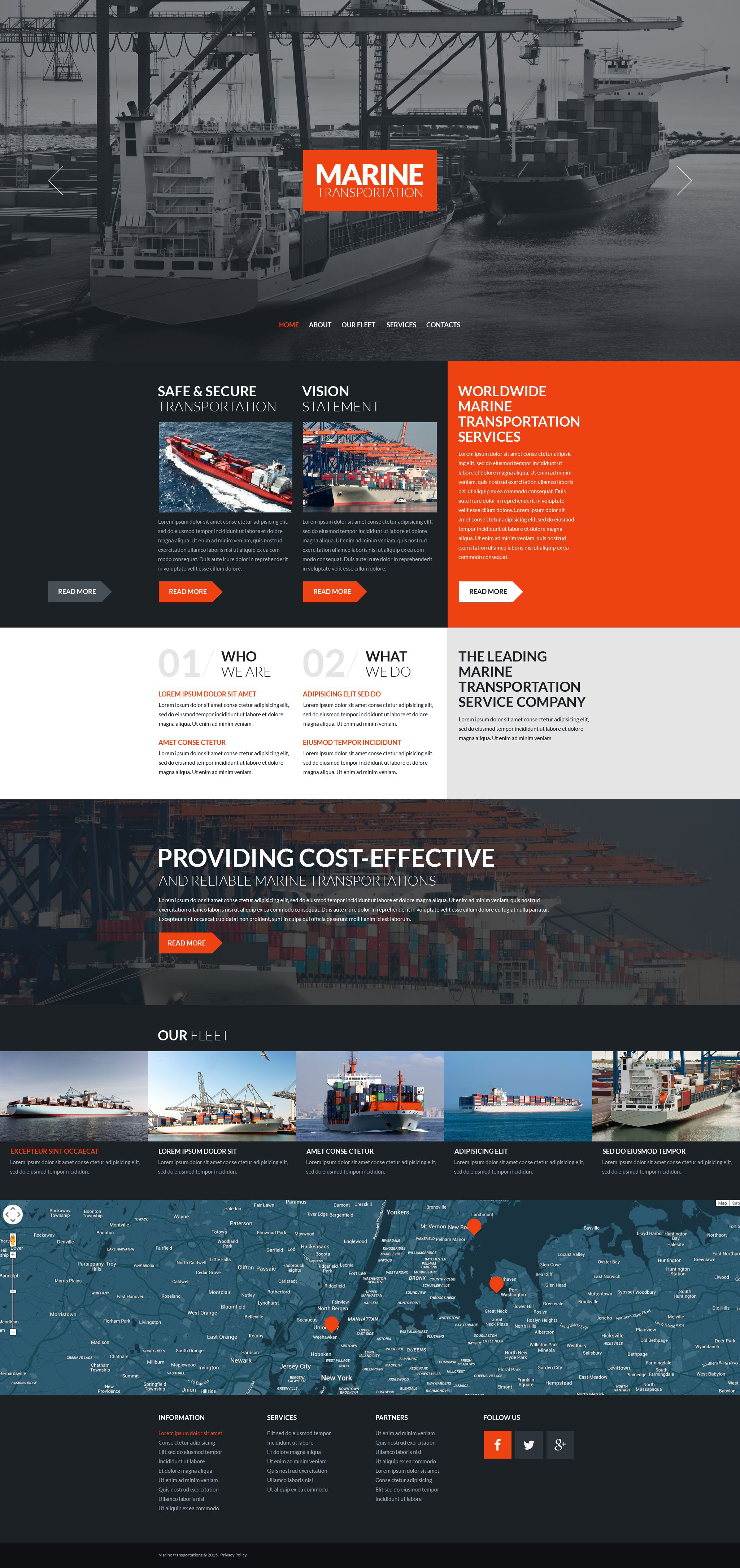 The Marine Transportations Bootstrap Design 53277, one of the best website templates of its kind (transportation, most popular), also known as marine transportations website template, sea website template, port website template, ships website template, shipping website template, services website template, prices website template, transportation website template, seaman website template, sailor and related with marine transportations, sea, port, ships, shipping, services, prices, transportation, seaman, sailor, etc.