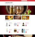 Food & Drink VirtueMart  Template 53281