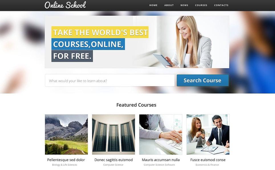 Responsive Website template over Opleiding  New Screenshots BIG