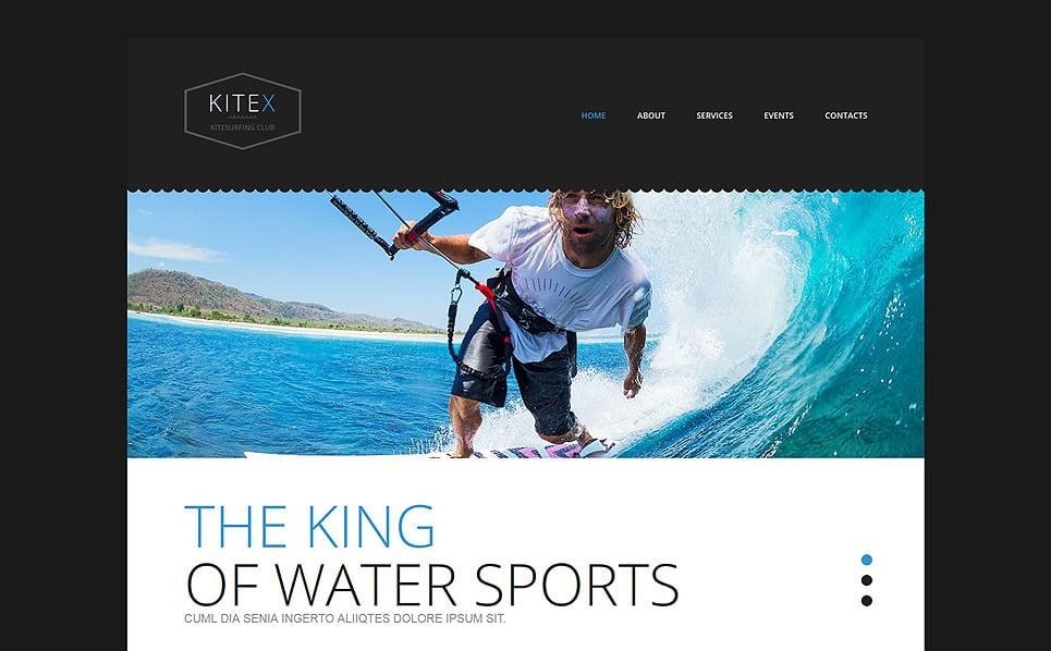 Responzivní Šablona webových stránek na téma Kitesurfing New Screenshots BIG
