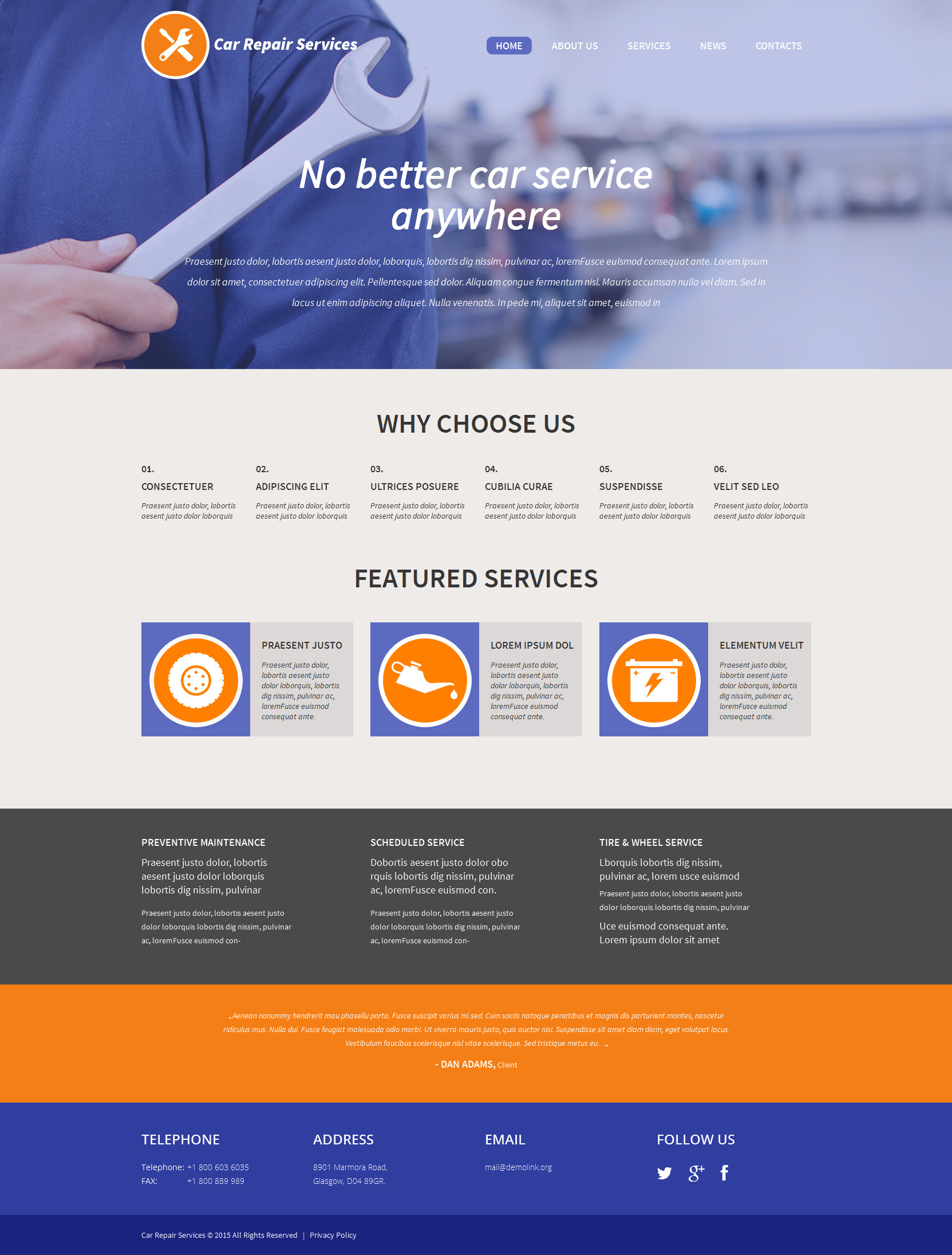 The Car Repair WordPress Design 53297, one of the best WordPress themes of its kind (cars, most popular), also known as car repair WordPress template, recovery WordPress template, repairs WordPress template, automobile WordPress template, auto repair WordPress template, maintenance WordPress template, service care WordPress template, advice WordPress template, station and related with car repair, recovery, repairs, automobile, auto repair, maintenance, service care, advice, station, etc.