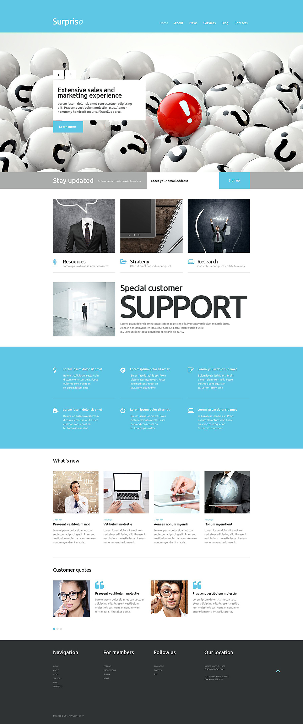 Адаптивный шаблон сайта на тему бизнес и услуги #53264