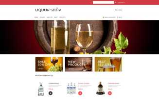 Alcoholic Drinks VirtueMart Template