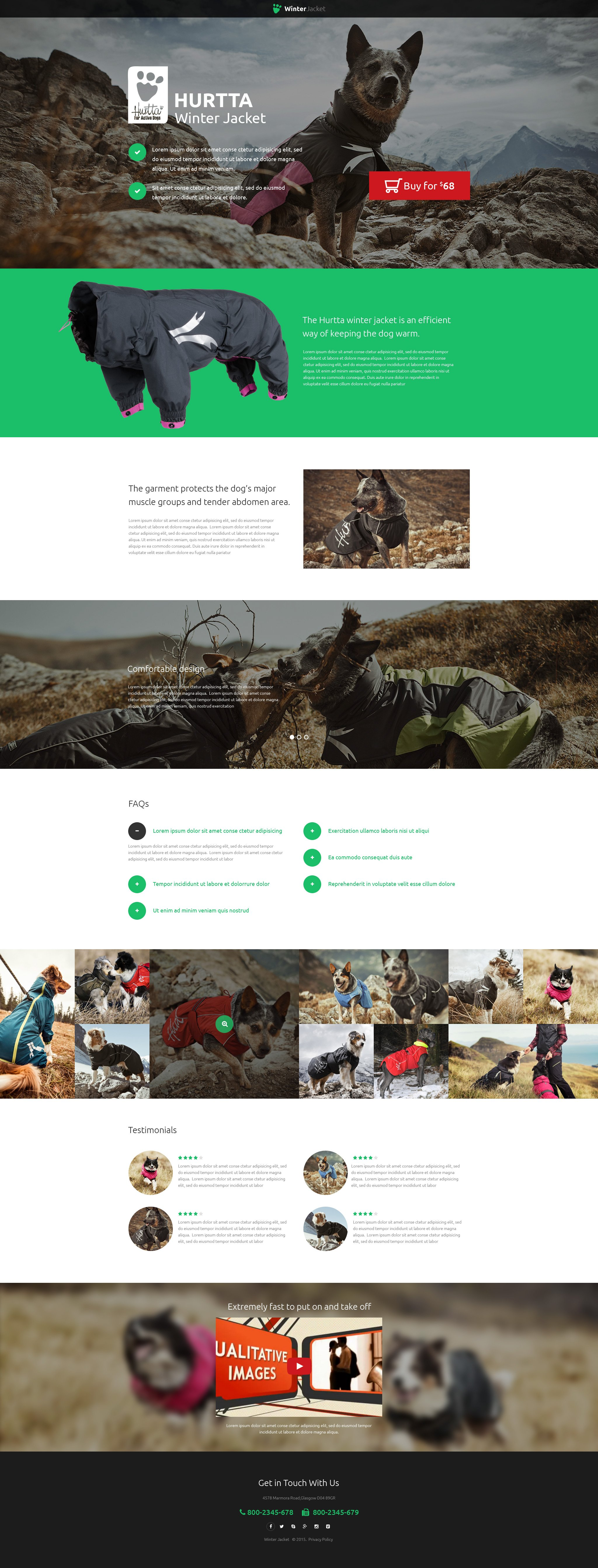Animals & Pets Landing Page Template - screenshot