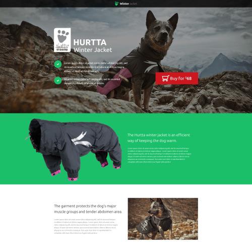 Hurtta Winter Jacket - HTML5 Landing Page Template