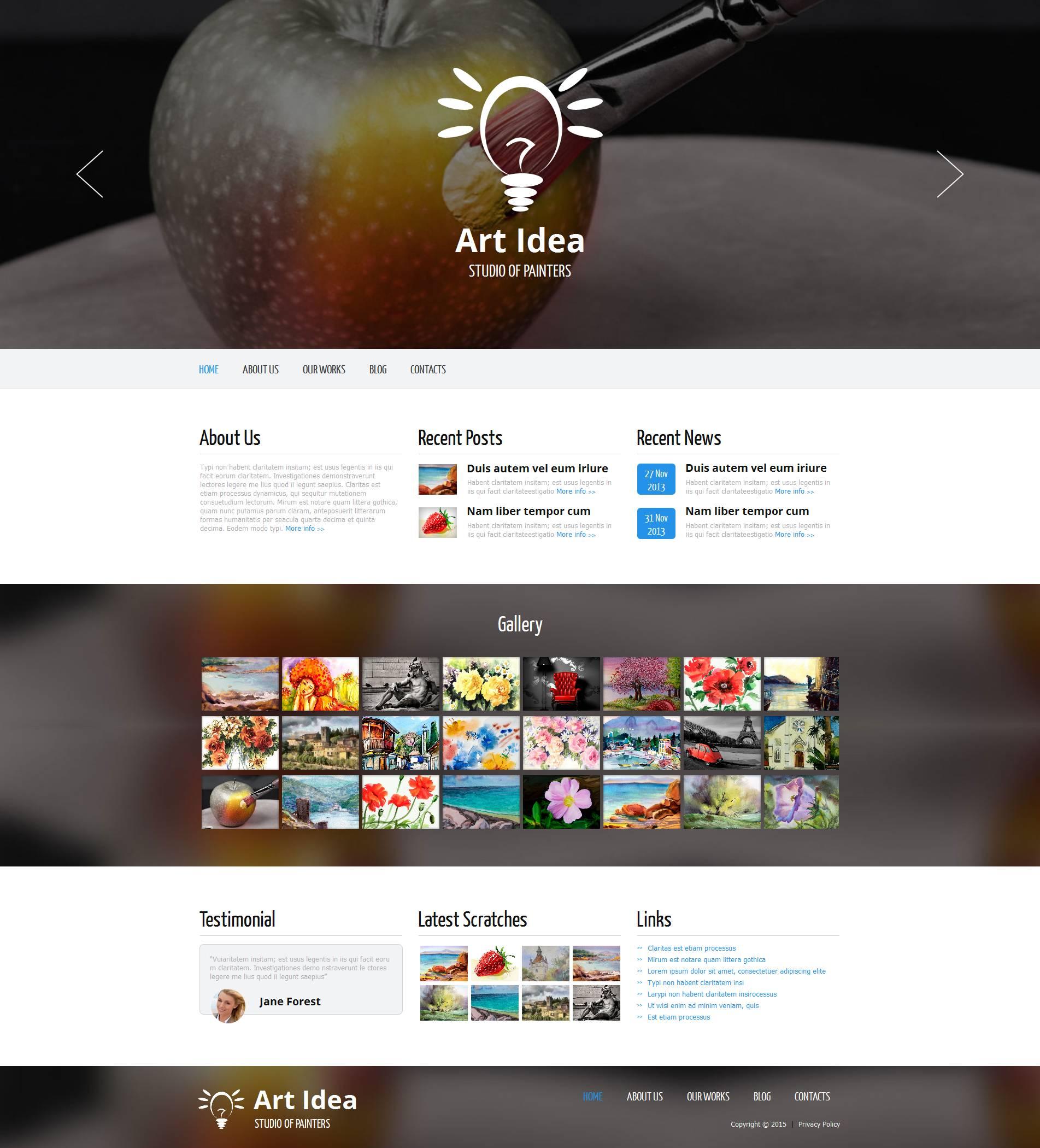 Art Studio Moto CMS HTML Template